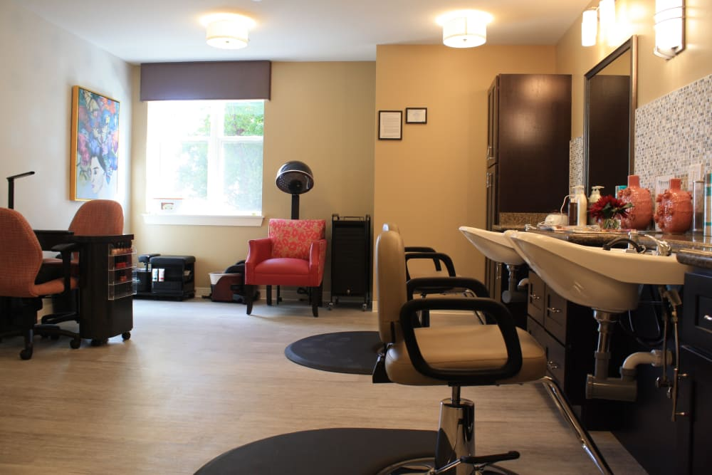 Hair salon at Aspired Living of Westmont