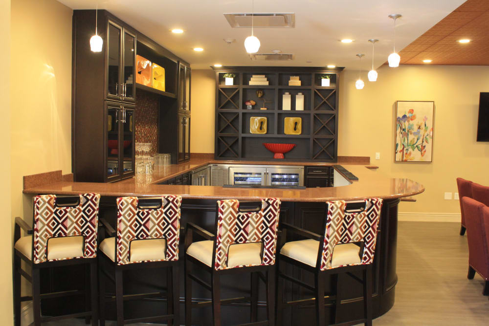 Bar area at Aspired Living of Westmont