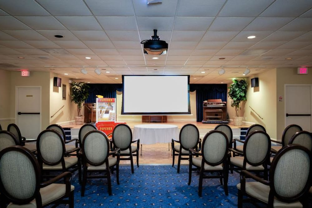 Theater room at Grand Villa of Fort Myers in Florida