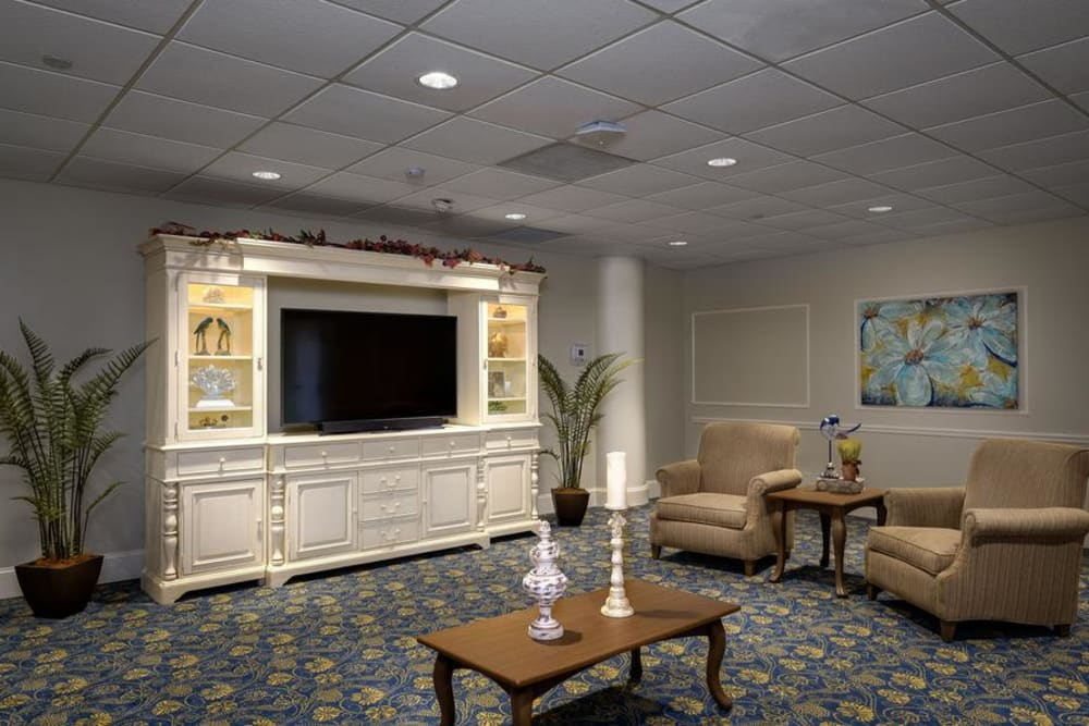TV room at Grand Villa of Fort Myers in Florida