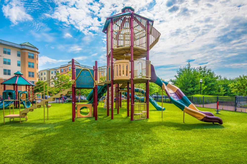 Playground outside The Chase at Overlook Ridge in Malden, Massachusetts