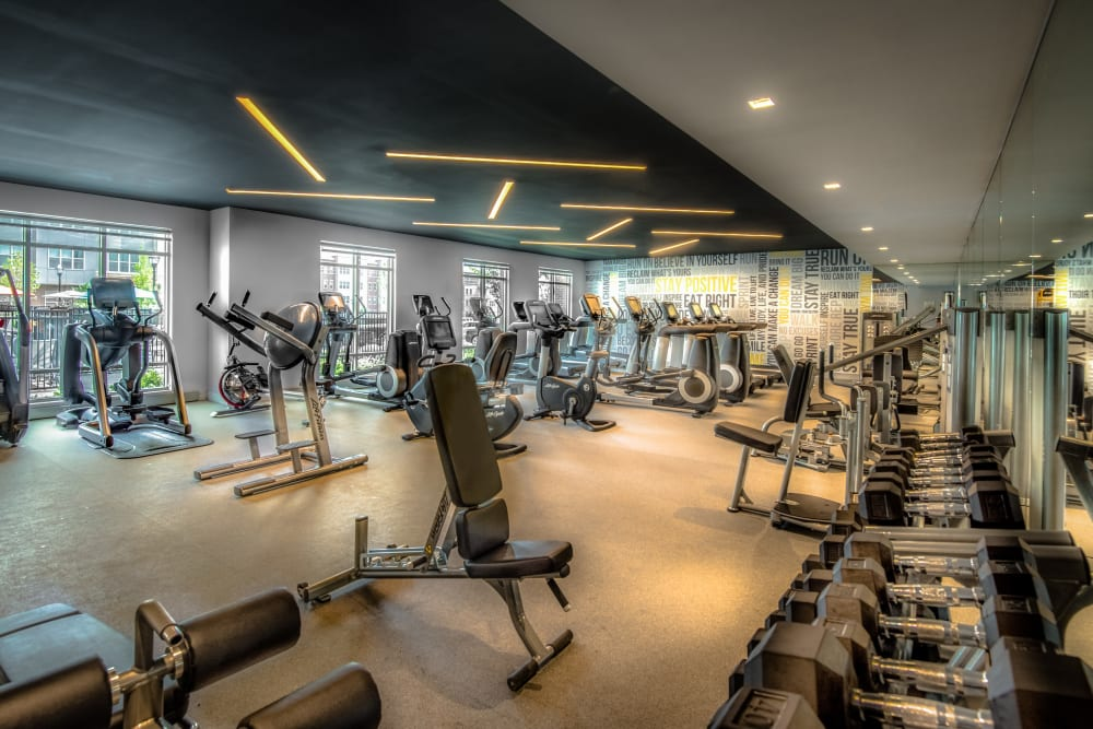 Fitness center at The Chase at Overlook Ridge in Malden, Massachusetts