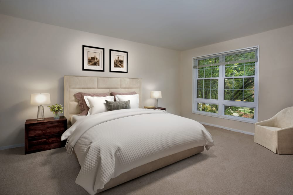 Unique bedroom at apartments in Washington