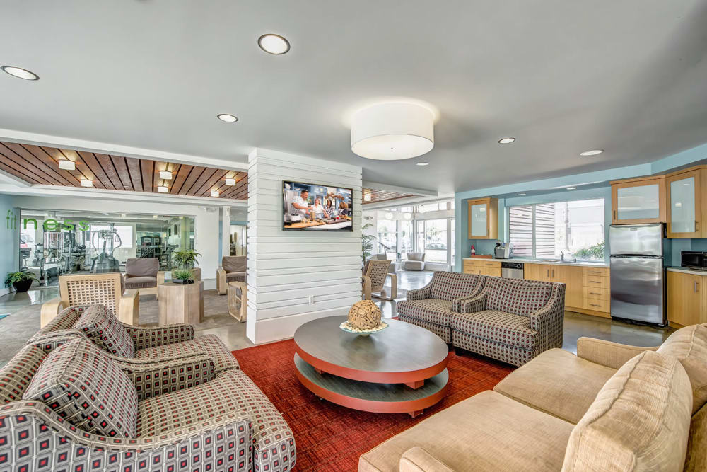 A view of the clubhouse at Alvista Long Beach