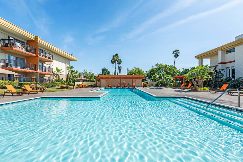 Swimming Pool At Apartments In Garden Grove California