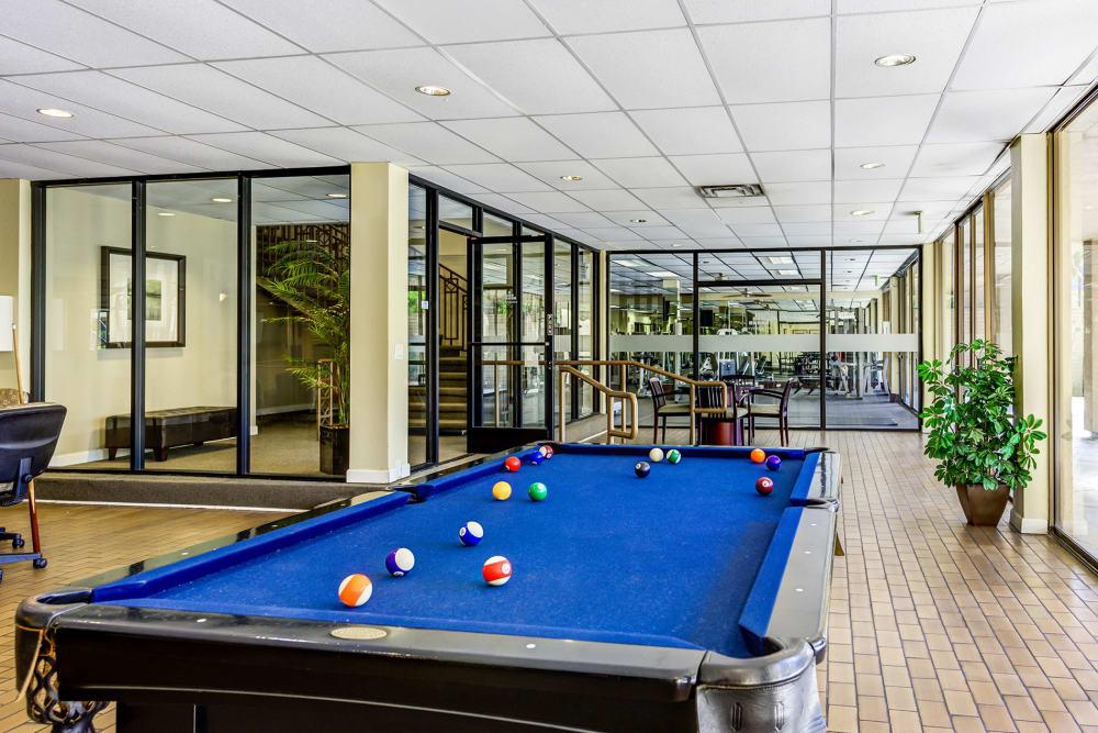 Billiard Table At Apartments In Garden Grove California
