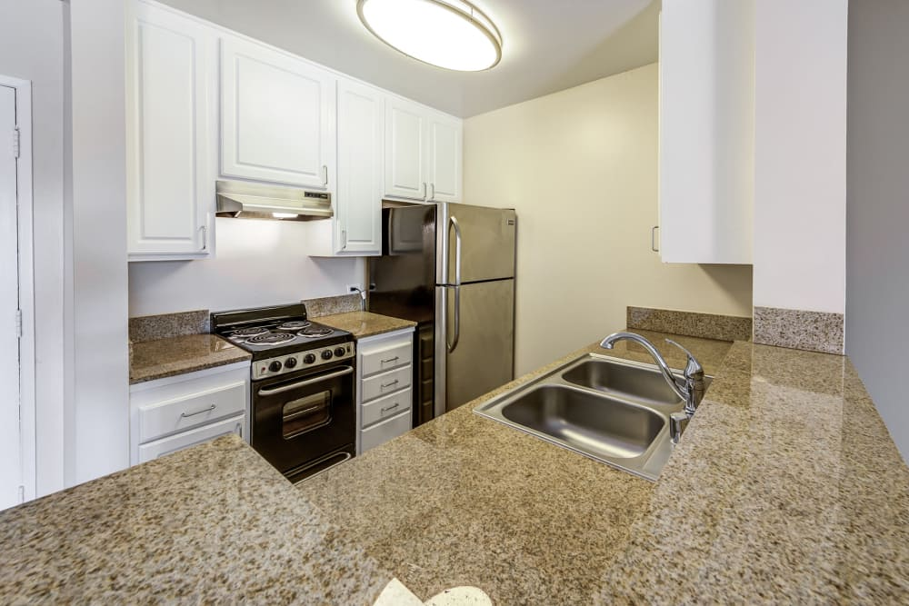 Kitchen At Apartments In Garden Grove California