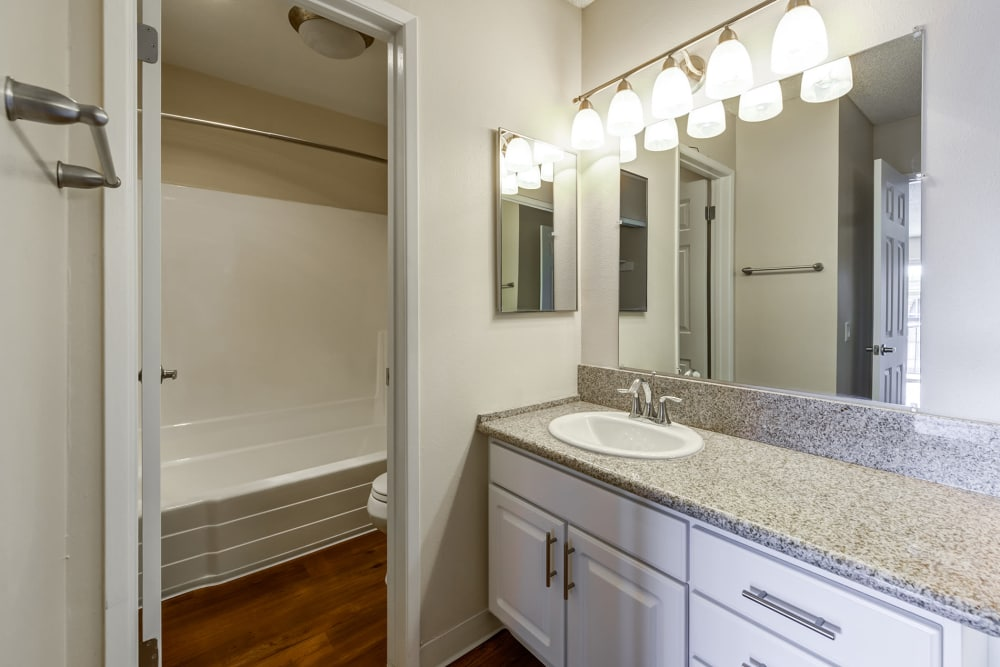 Bathroom At Apartments In Garden Grove California