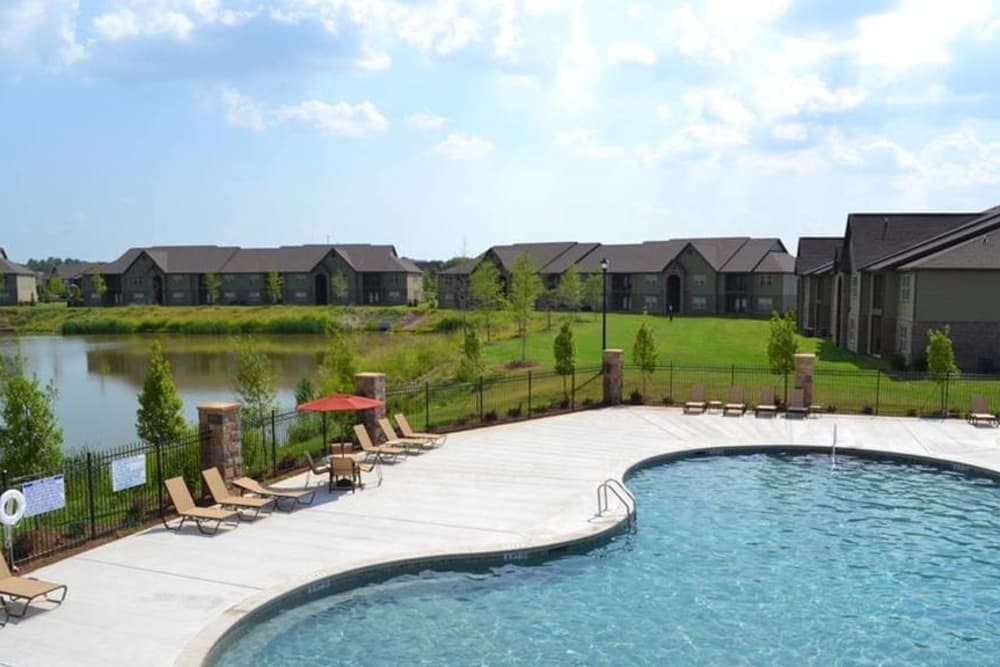 Cool off from Alabama's heat in the sparkling pool at The Grove at Stone Park