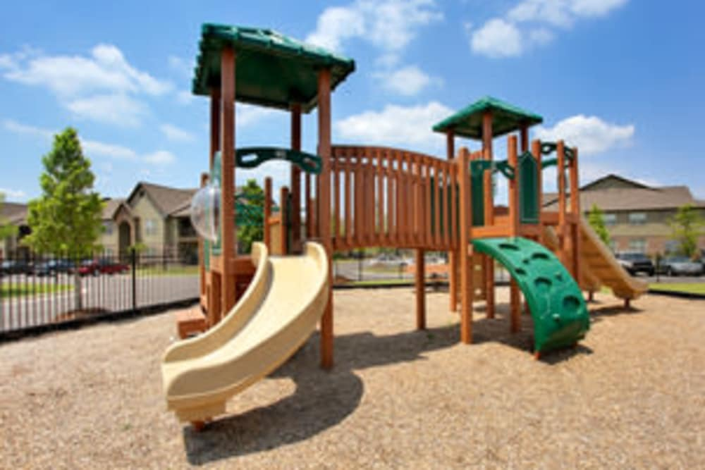 A child's playground at The Grove at Stone Park