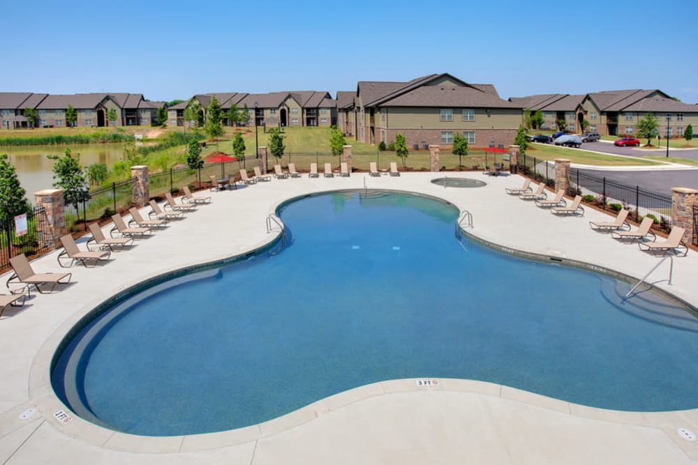 Enjoy a resort-styled pool right at The Grove at Stone Park