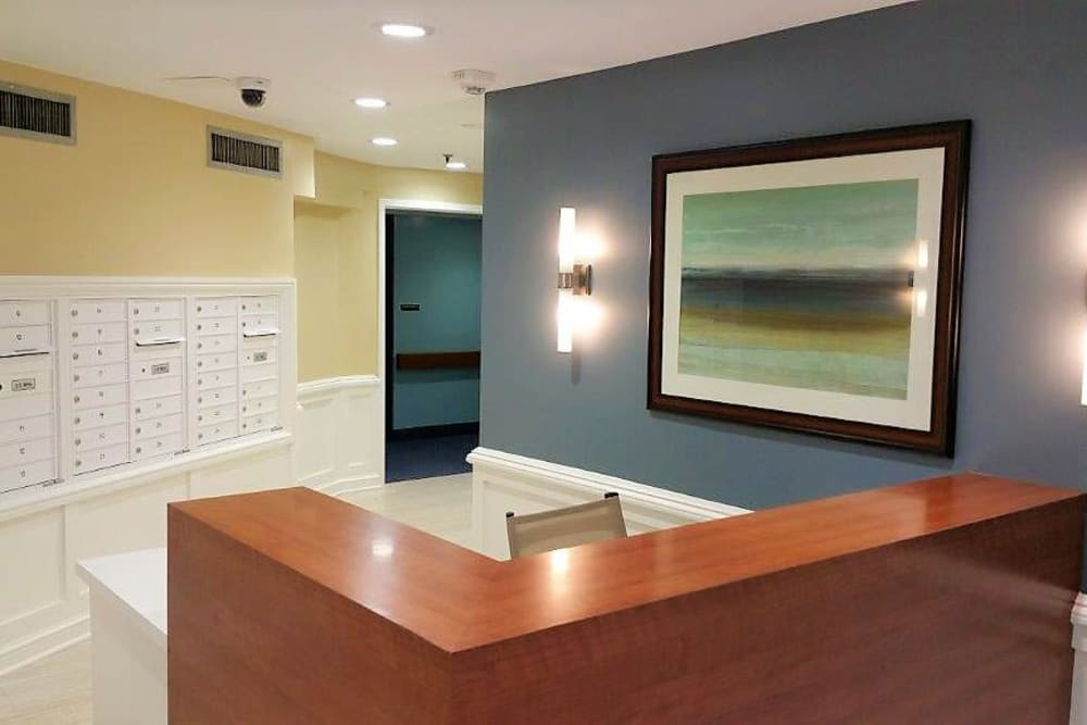 Asbury Dwellings reception desk