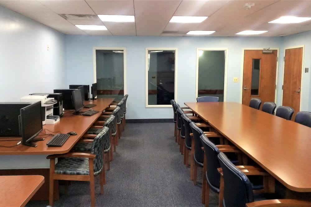 Business center at Asbury Dwellings