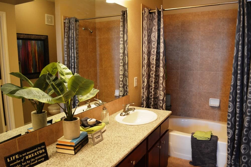 Luxury bathroom at The Abbey at Stone Oak in San Antonio, TX