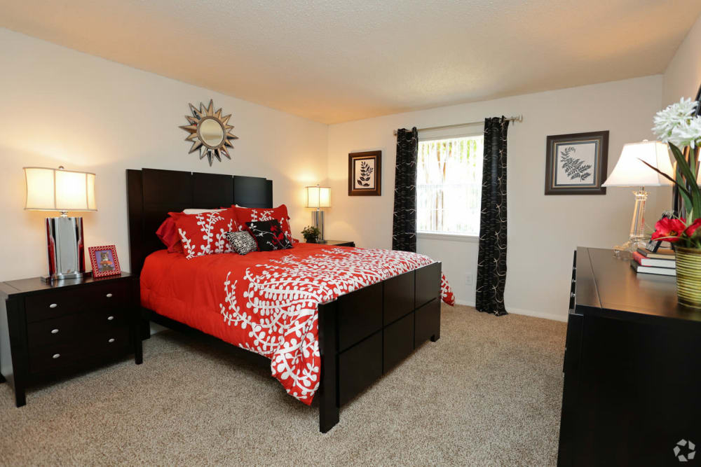 Spacious bedroom at The Abbey at Regent's Walk in Homewood, AL