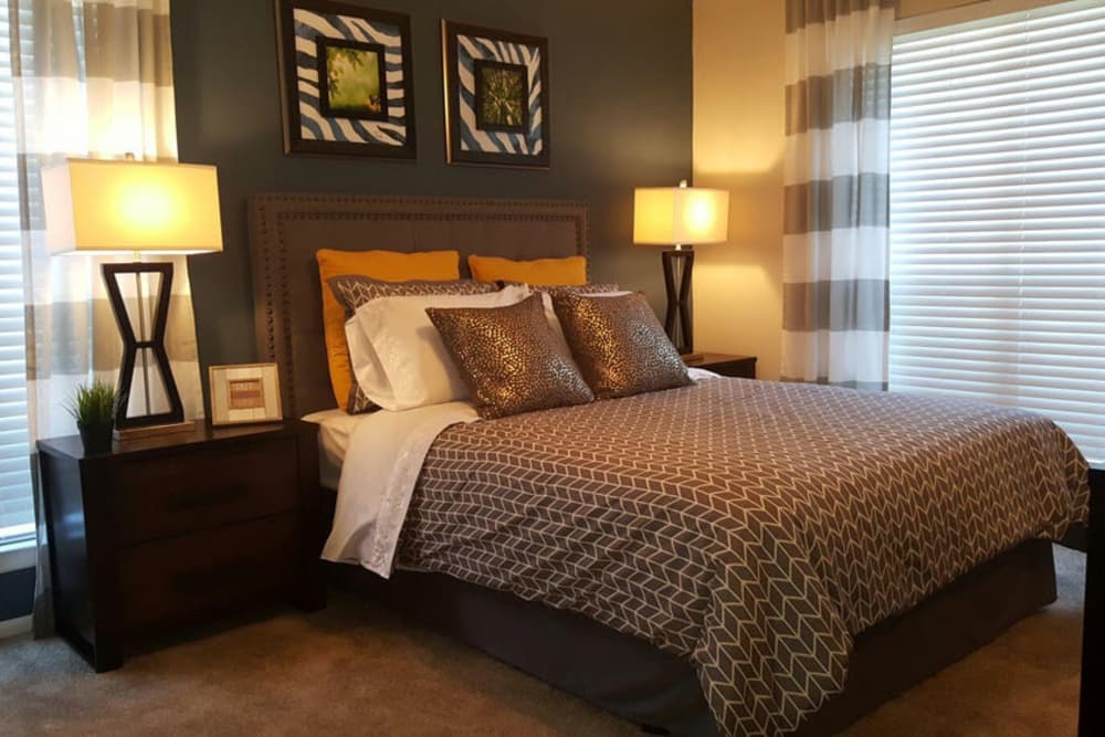Luxury bedroom at The Abbey at Medical Center in San Antonio, TX