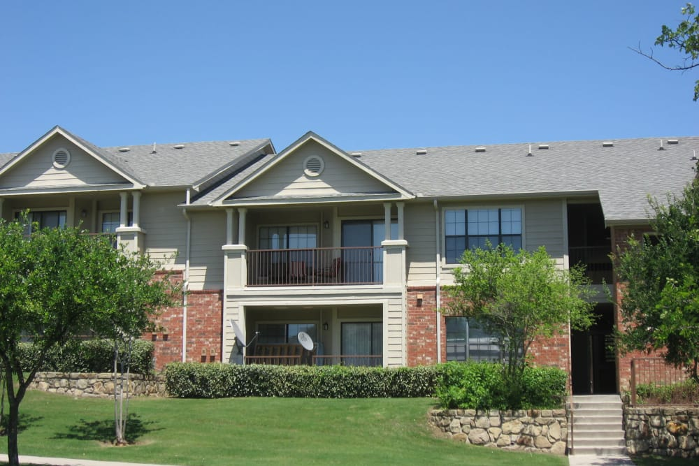 Unique apartments & townhomes with a private patio in North Richland Hills, TX