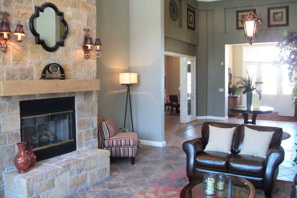 Beautiful clubhouse at apartments & townhomes in North Richland Hills, TX