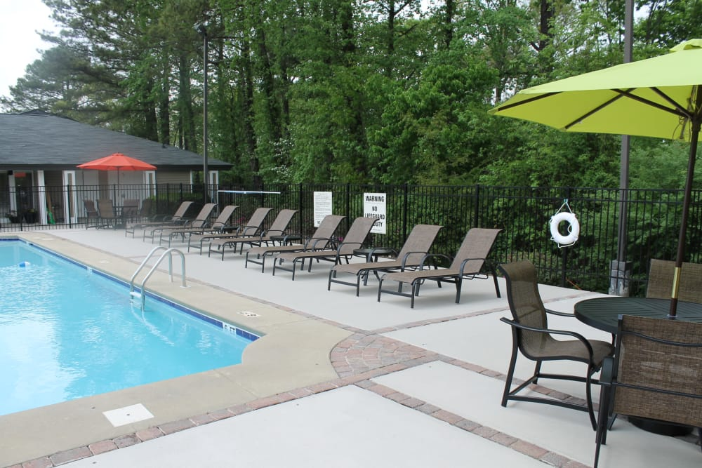Sparkling swimming pool at The Abbey at Riverchase in Hoover, AL