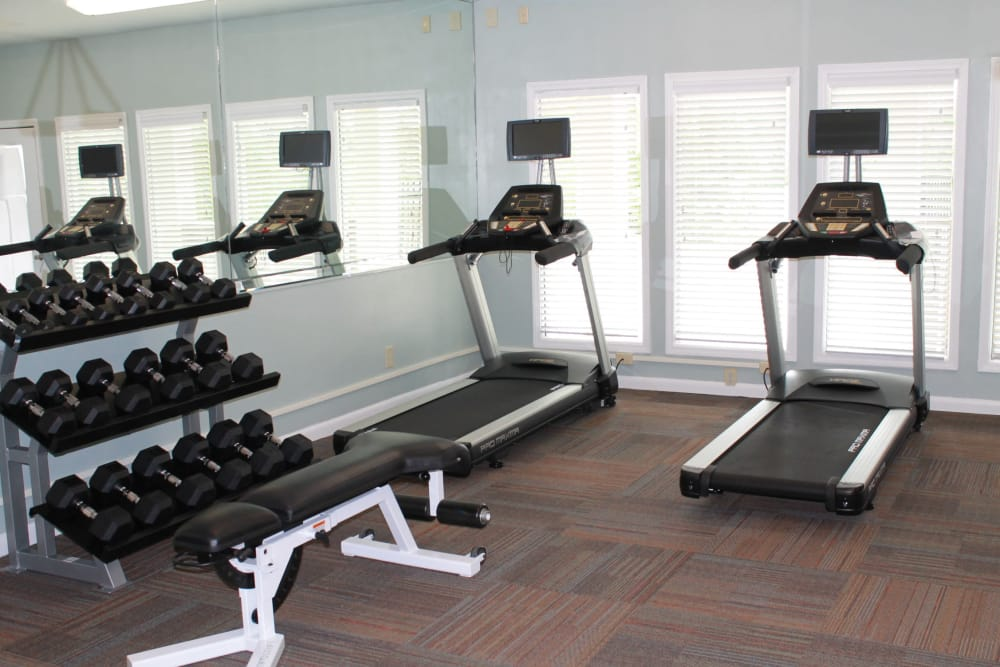 Stay healthy in our fitness center at The Abbey at Riverchase