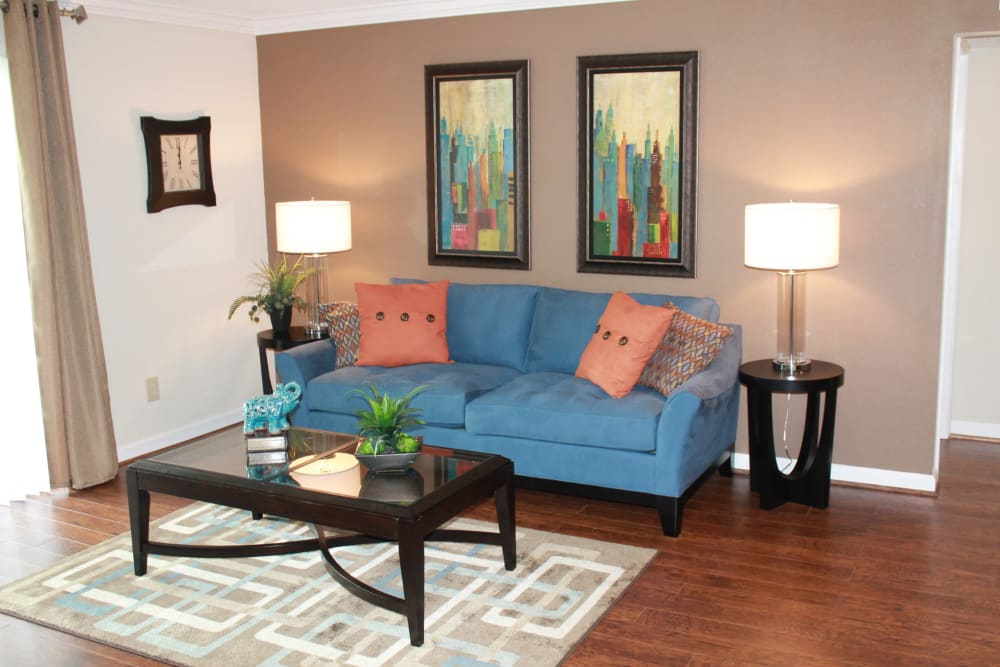 Living room at The Abbey at Riverchase in Vestavia Hills