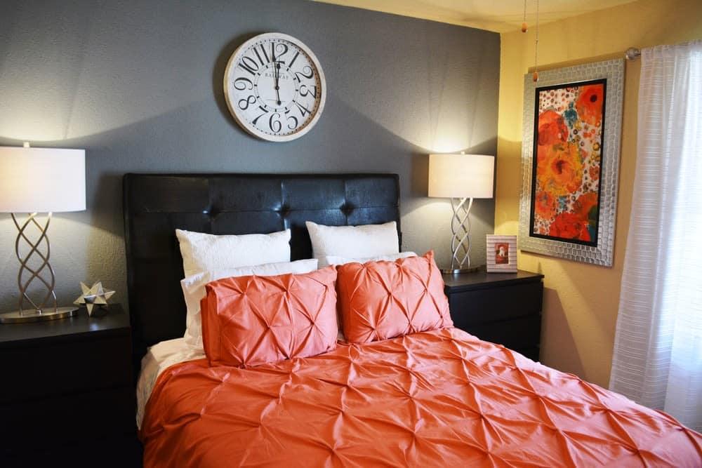 Master bedroom at The Abbey at Eldridge in Houston