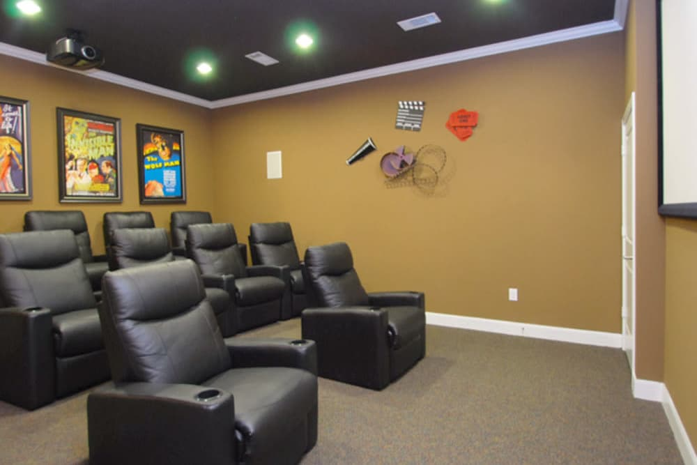A movie theater that is great for entertaining at The Abbey at Eldridge in Houston, TX