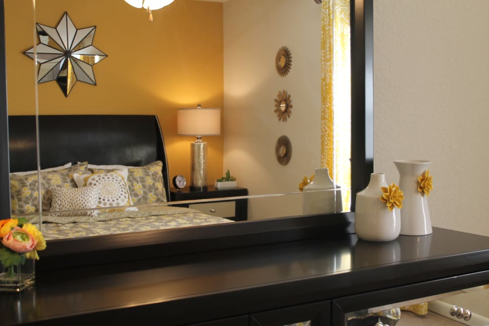 The Abbey at Conroe offers an unique bedroom in Conroe apartments