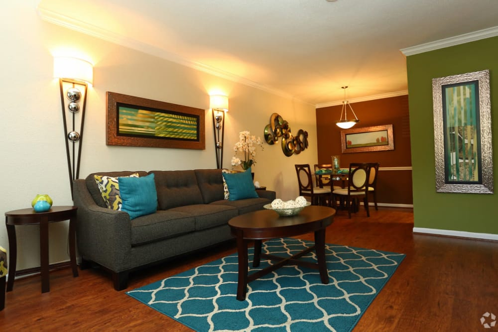 Our apartments in Conroe, TX showcase a spacious living room