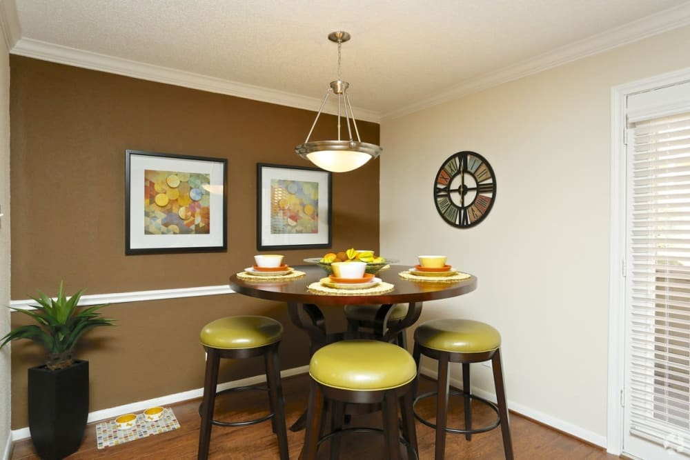 Dining room at The Abbey at Montgomery Park apartments