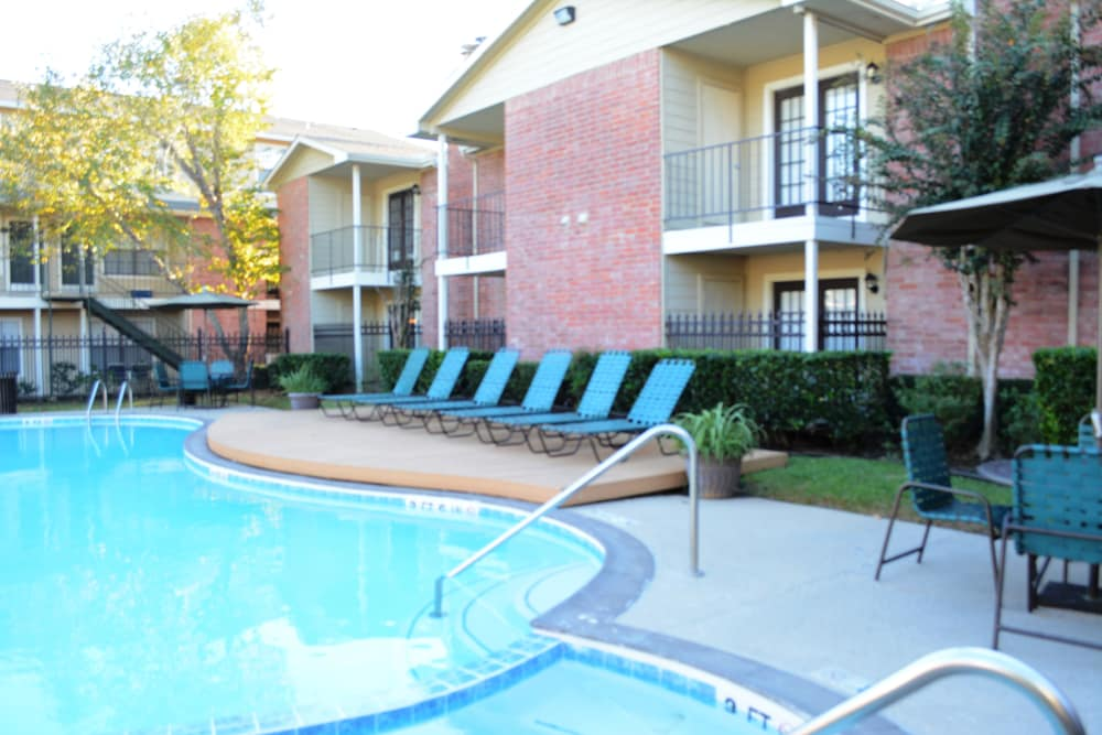 Enjoy the swimming pool at The Abbey at Montgomery Park