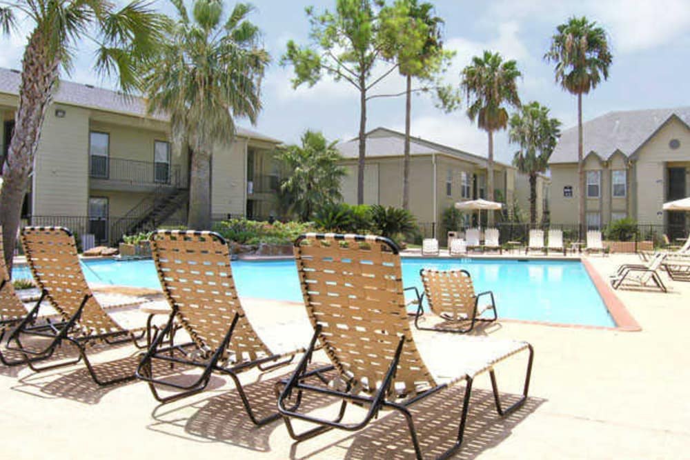 Beautiful swimming pool at The Abbey at Briar Forest in Houston, TX