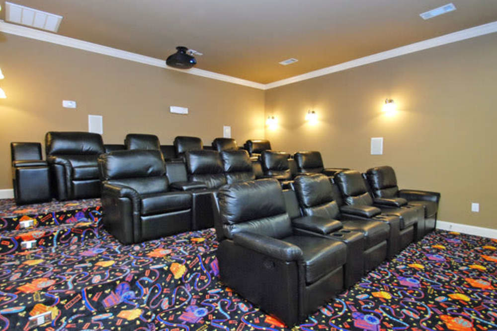Luxury movie theater at The Abbey at Briar Forest in Houston, TX