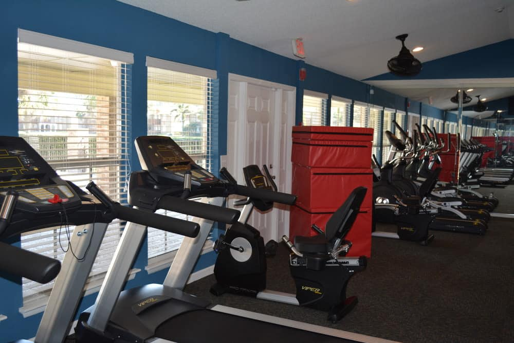Stay healthy in our fitness center at The Abbey at Northlake in Riviera Beach, FL