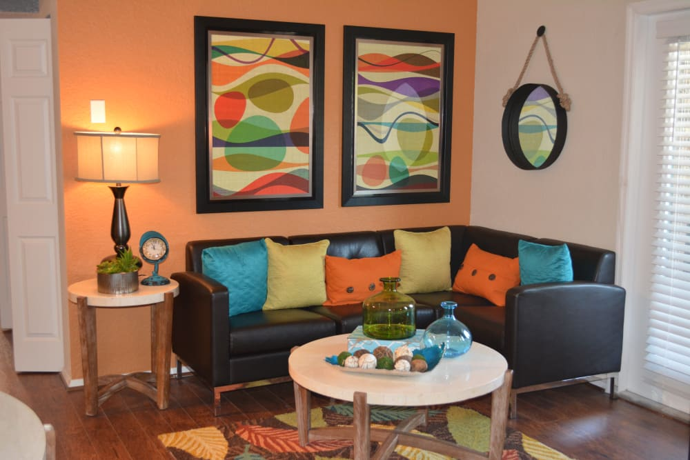 Spacious living room at The Abbey at Northlake apartments in Riviera Beach, FL
