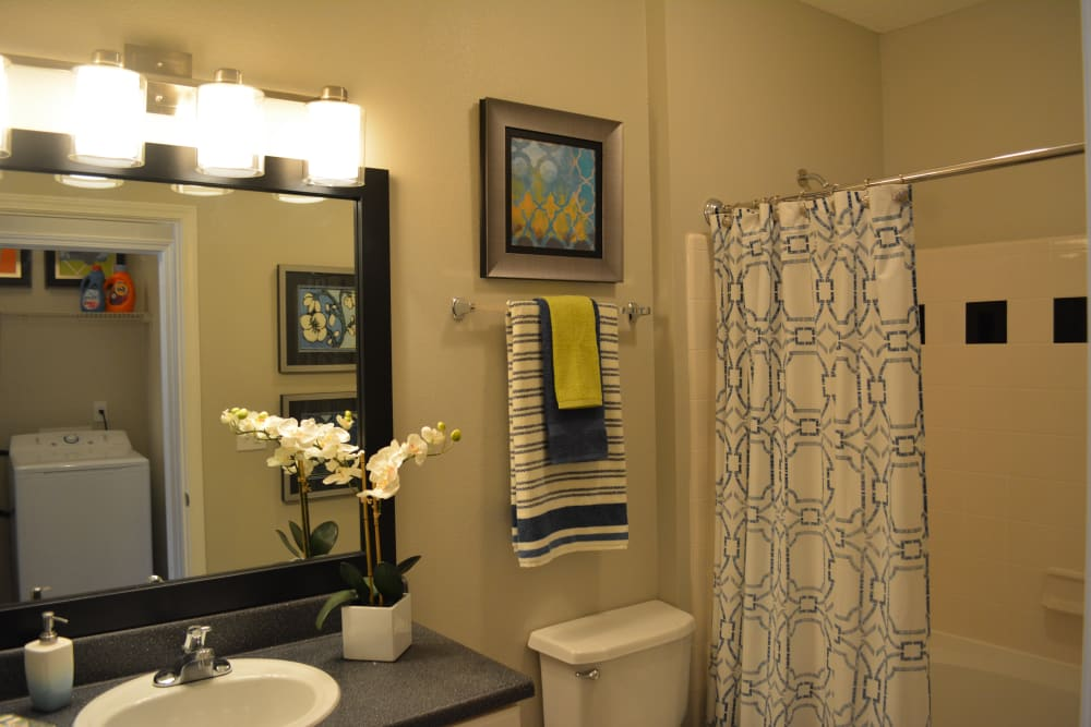 Bathroom at The Abbey at Eagles Landing apartments in Stockbridge, GA