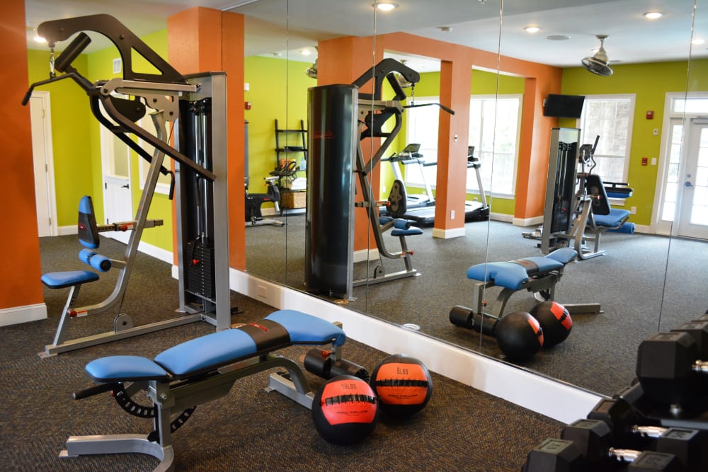 Fitness center at The Abbey at Eagles Landing