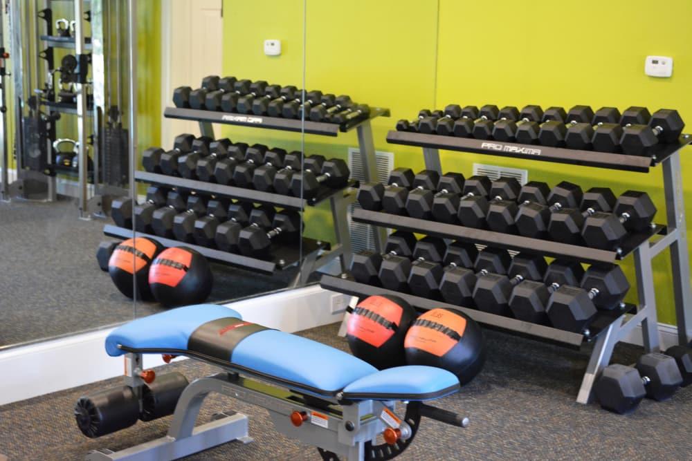 The Abbey at Eagles Landing fitness center in Stockbridge