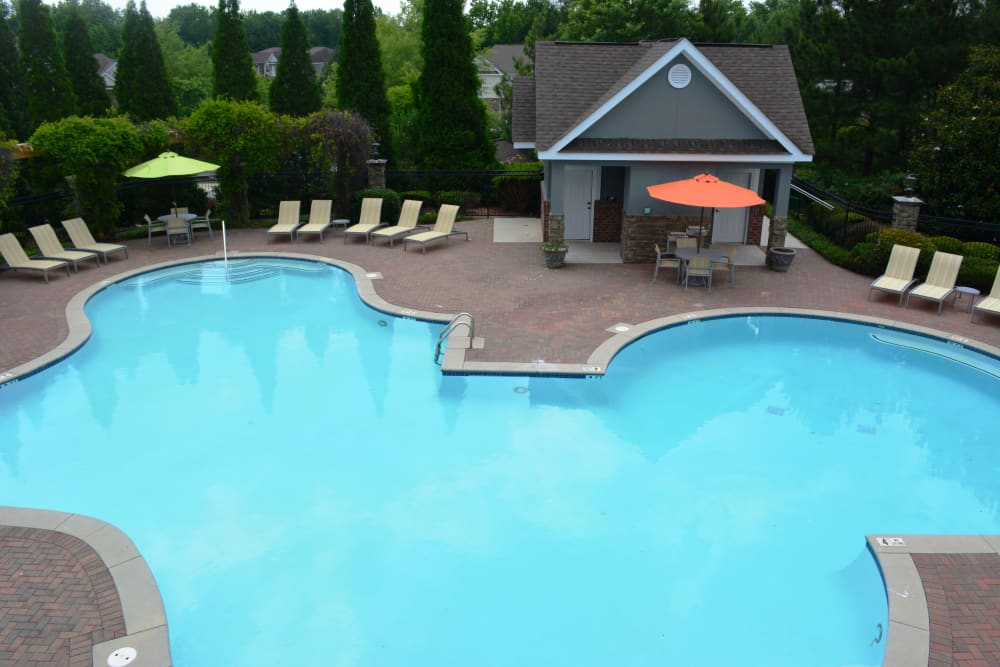 Sparkling swimming pool at The Abbey at Eagles Landing