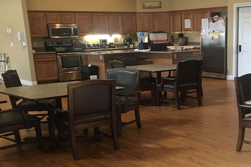Breakfast bar at Arbor Rose Senior Care