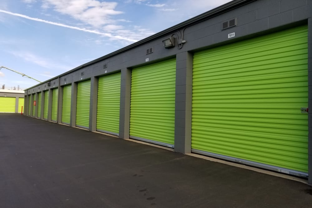 Drive-up units at One Stop Storage