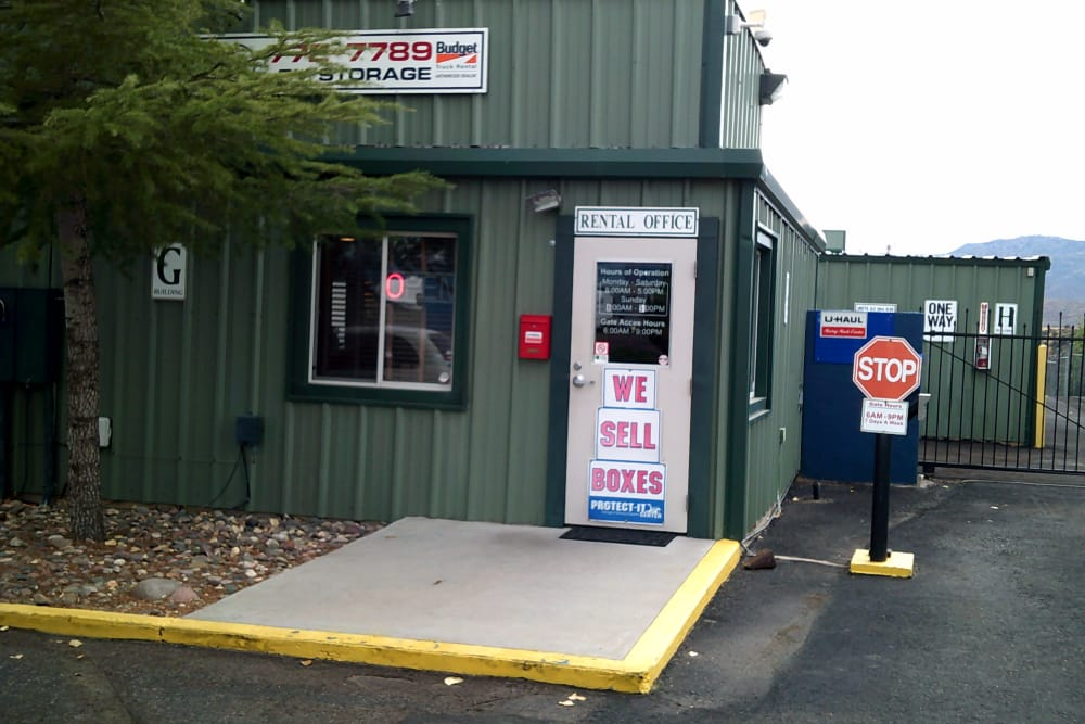 Prescott Valley RV & Self Storage front door