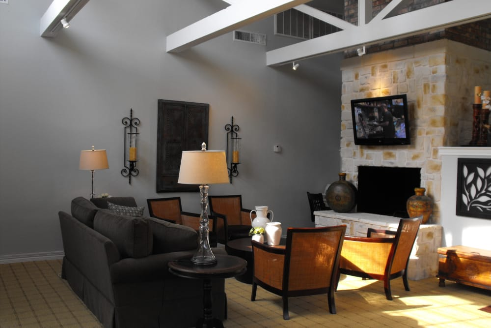Avalon Villas clubhouse interior in Irving