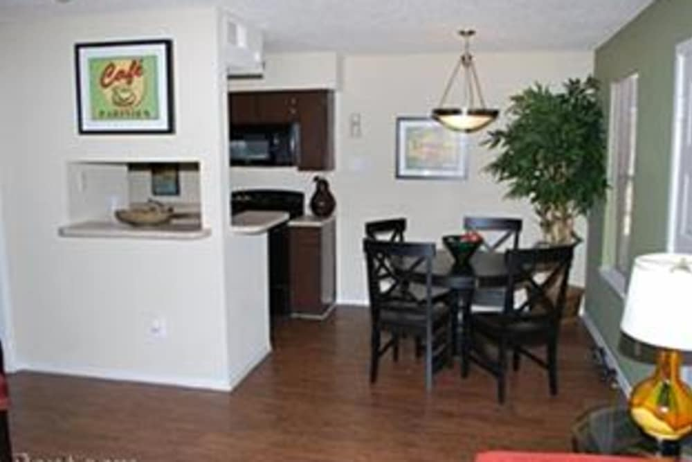 Modern living room at Montoro Apartments in Irving, Texas