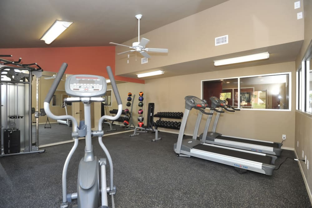 Beautiful fitness center at Wind Tree in El Paso, Texas