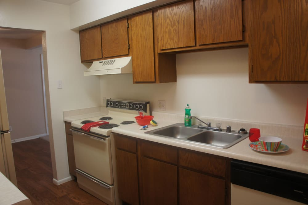 Pear Tree apartments in El Paso showcase a beautiful kitchen