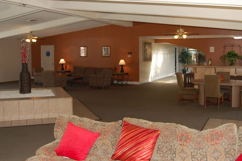 Interior of the Emerald Pointe clubhouse