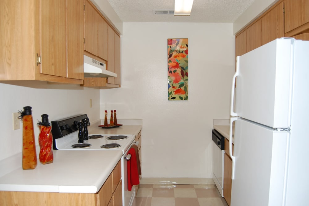 Kitchen at Emerald Pointe apartments
