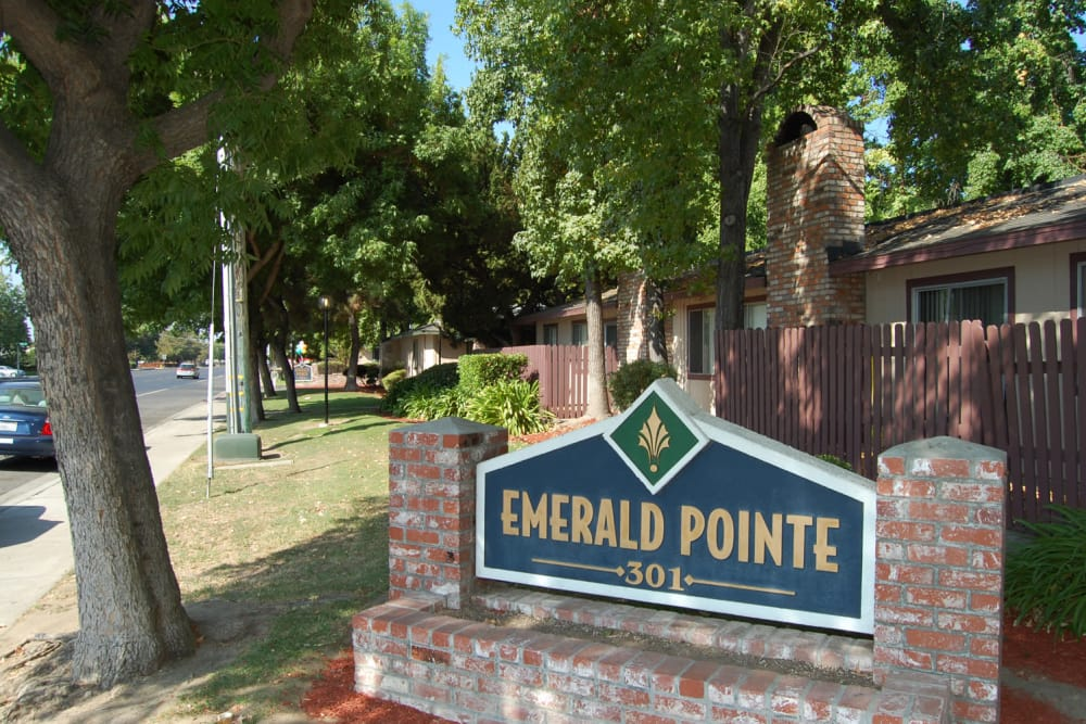 Emerald Pointe signage in Modesto, California