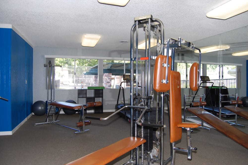 Stay healthy in our fitness center at Emerald Pointe in Modesto, California